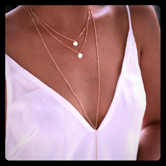 5bc91a9d06 SHEIN Jewelry | Three Layered Pendent Necklace | Poshmark